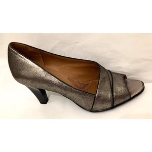 Sofft Womens Gray Black Open Toe  Shoes Size 10M